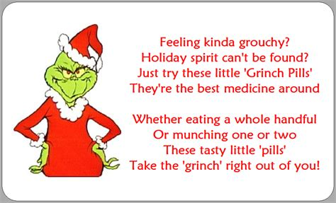 Grinch Card Template by Grinch Pills Poem