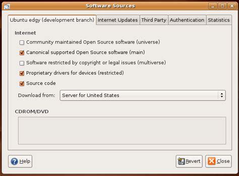 setup ubuntu repository server update ubuntu repository list using software sources gui tool