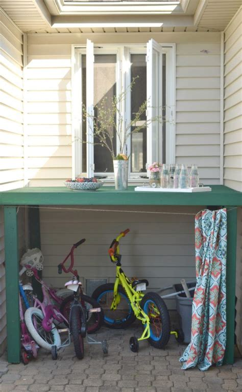 Backyard Storage Ideas 17 Best Ideas About Outdoor Storage On Pinterest Outdoor Bike Storage Garbage Can Storage And