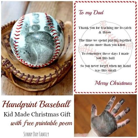 gifts for baseball fans handprint baseball kid made christmas gift with free