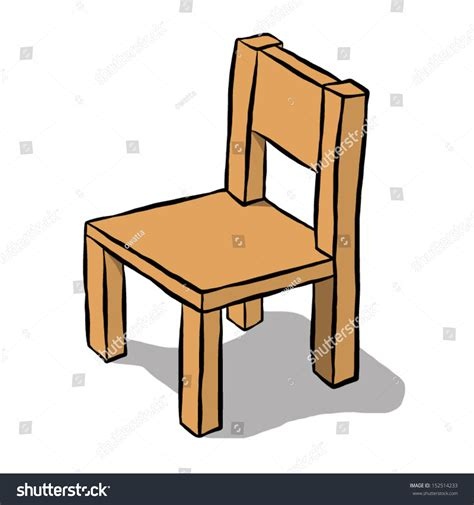 brown wooden chair vector illustration stock