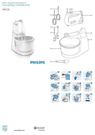 Mixer Philips Hr 1538 philips hr 1538 8 mixer manual for free now 2f1b2 u manual