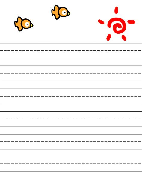 printable writing paper free free printable stationery for kids free lined kids