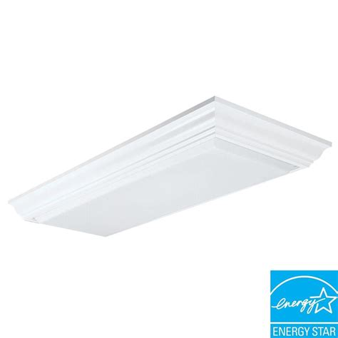 2 X 4 Ceiling Light Lithonia Lighting Cambridge 1 1 2 Ft X 4 Ft 4 Light Wood Fluorescent Ceiling Fixture 3776re