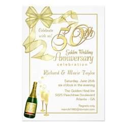50th anniversary bargain invitations