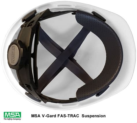 Safety Helmet Viva Fas Trac msa v gard hat with fas trac suspensions all colors american safety