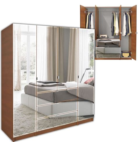 Mirrored Armoire Closet Alta Armoire Plus Closet Package Contempo Space