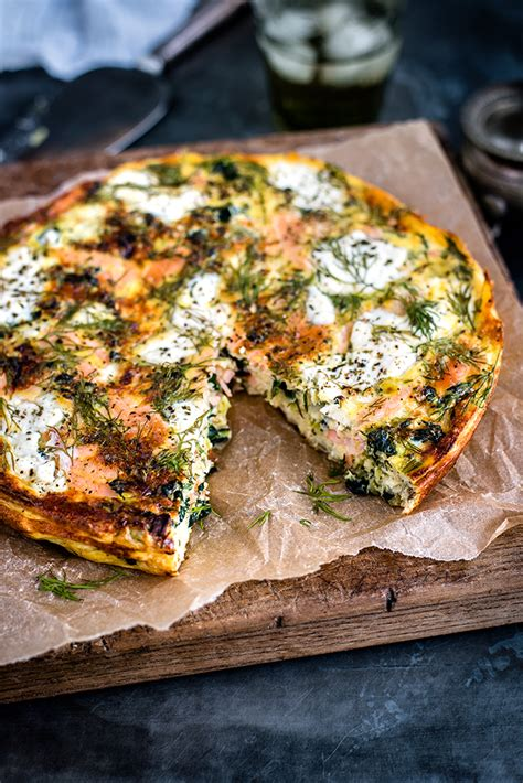 cottage recipes cottage cheese kale and smoked salmon frittata