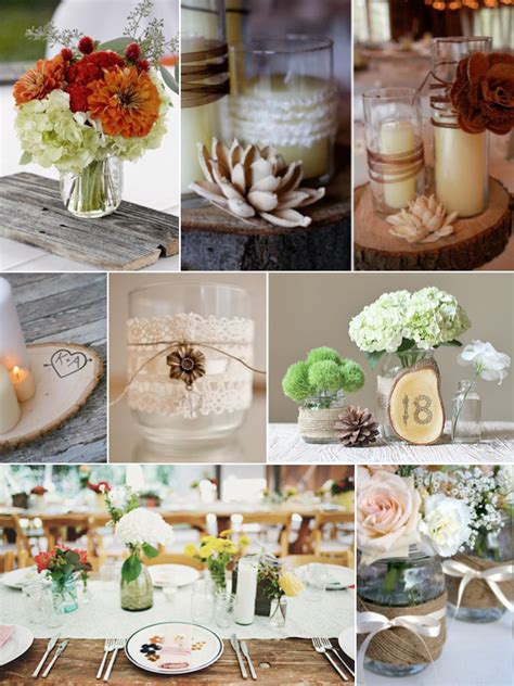 Pin Tagged Unique Rustic Wedding Ideas Trends And Cake On Rustic Wedding Table Centerpieces