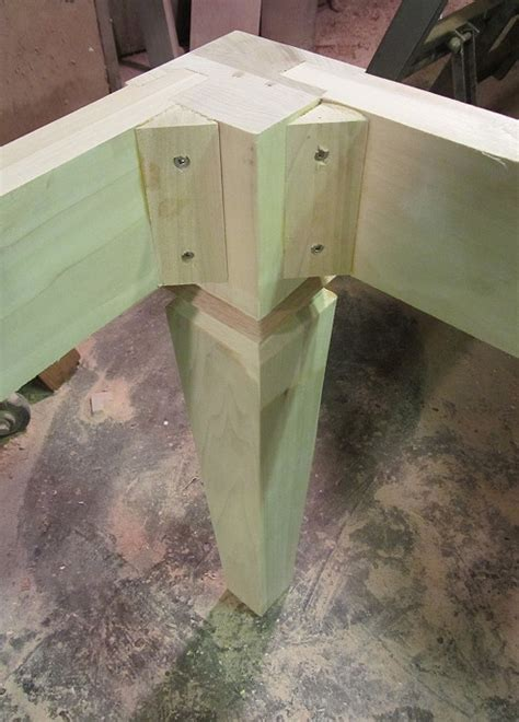 how to taper 4x4 table legs a farmhouse table pic