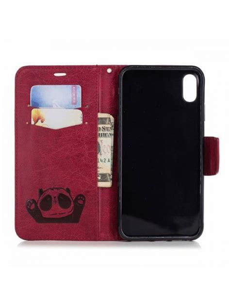 cartoon panda leather case  card holder  iphone xs max
