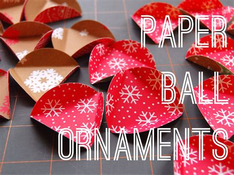 How To Make Ornaments With Paper - paper ornament tutorial maker