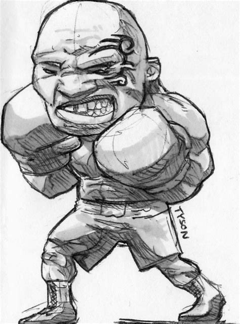 mike tyson sketch by bluboiart on deviantart