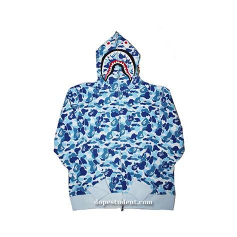 Bape Shark Fullzip Hoodie blue zip abc camo bape shark hoodie dopestudent