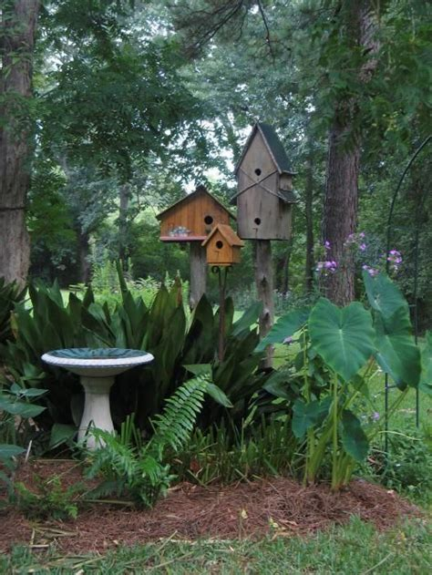 the backyard bird company garden birdhouses image via wolverine nature co dreamin