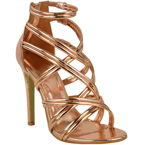 Demure But Gold Strappy Sandals From Accessorize by Womens Gold Strappy Sandals High Heel