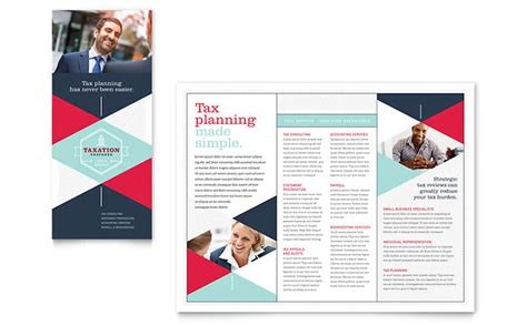 templates brochures tax preparer brochure template design