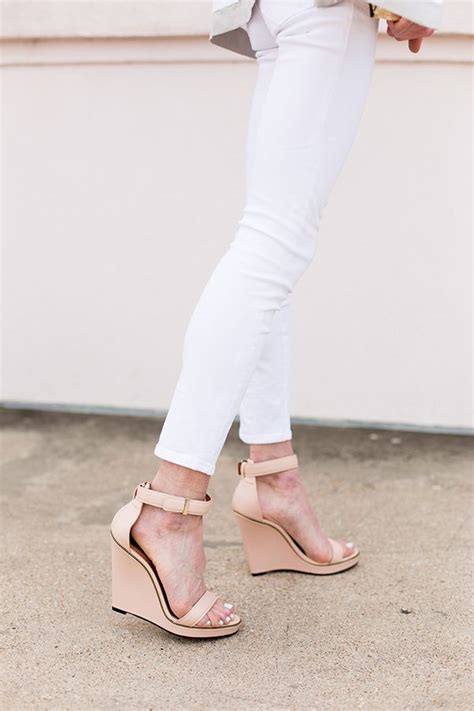 chagne colored wedges best 25 colored shoes ideas on