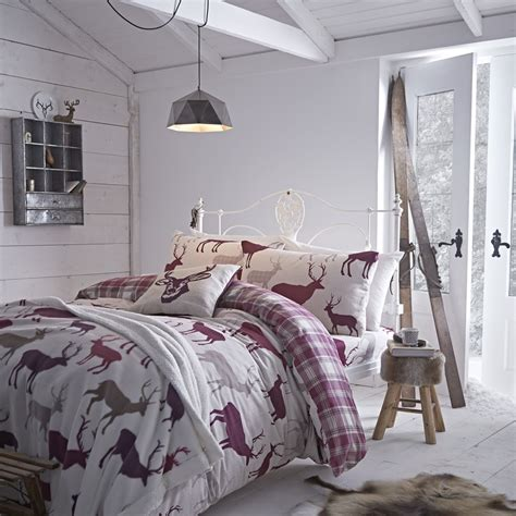 catherine lansfield catherine lansfield grian stag bed throw from palmers department store