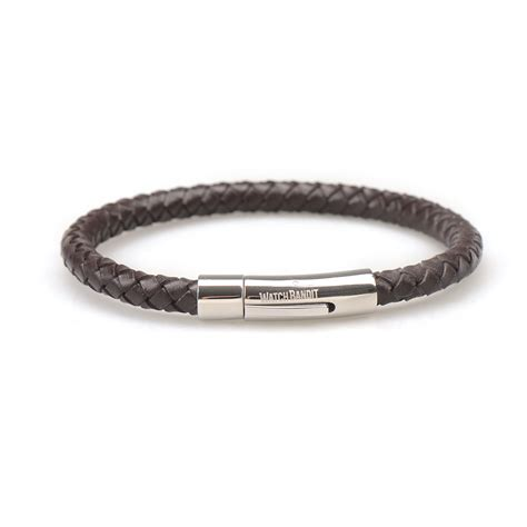 braided bracelets with brown braided leather bracelet polished push button