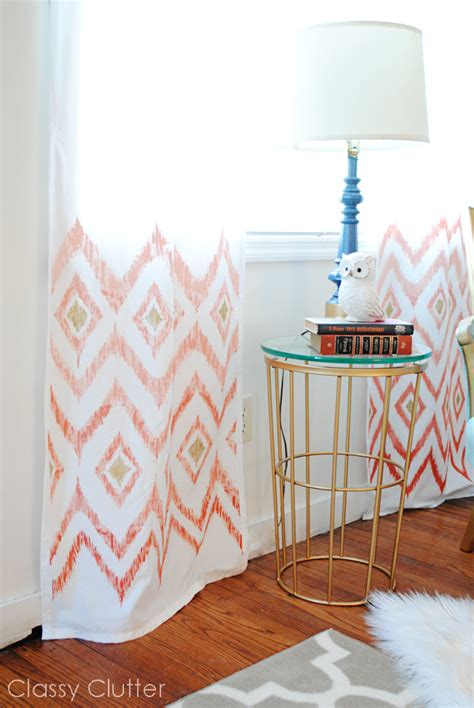coral ikat curtains diy 5 ombre ikat curtains classy clutter