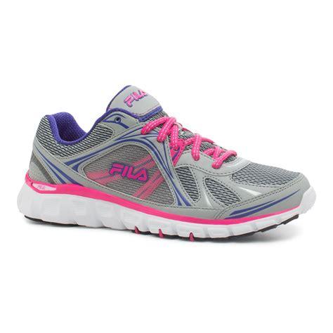 neon pink running shoes fila s memory retribution gray neon pink purple