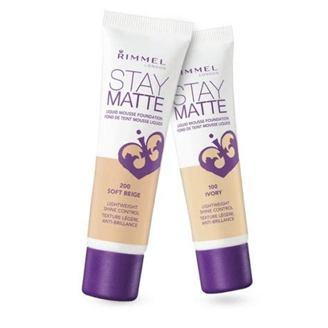 Rimmel Stay Matte Foundation stay matte liquid mousse foundation rimmel precio