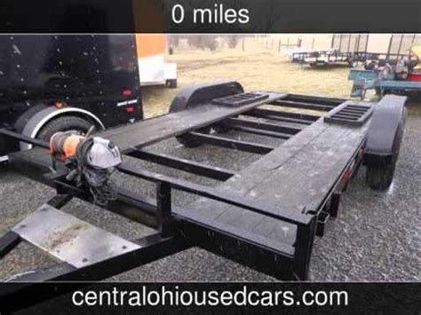 2000 home made trailer car hauler used powersports