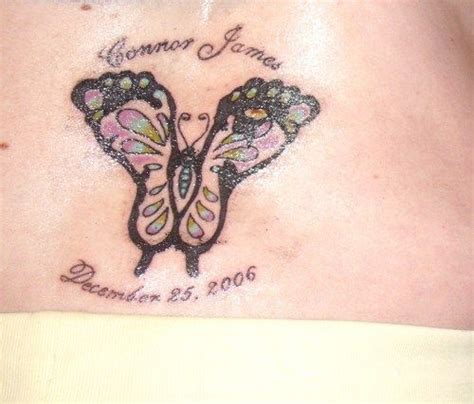 footprint butterfly tattoo footprint baby name tattoos and tattoos and on