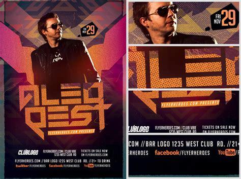 dj flyers templates guest dj flyer template flyerheroes