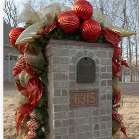 christmas driveways on pininterest decorating our mailbox posts peppermint and