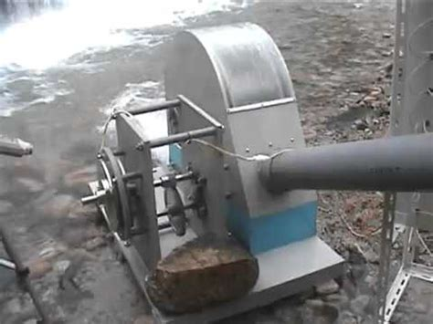 educational small hydroelectric generator in