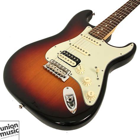 Fender Usa American Standard Stratocaster Hss fender deluxe stratocaster hss 3 tone sunburst 2013 2014 reverb