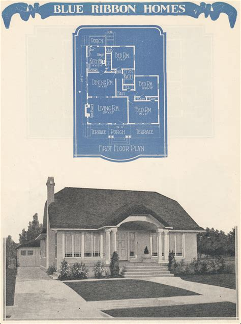 thatched roof bungalow cottage plan 1924 radford s blue