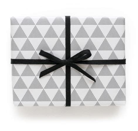 triangle pattern gift wrap triangle wrapping paper pei design stationery and
