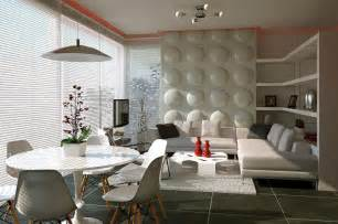 Wall Treatment Ideas Living Room - contemporary feature wall treatment at combinations living room and dining space ideas home