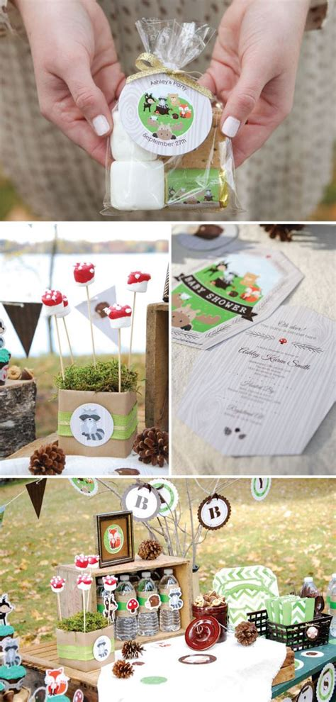 Forest Friends Baby Shower Decorations by Woodland Creatures Inspiration Baby Shower Ideas