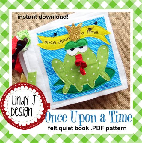 felt pattern book download once upon a time felt quiet book pdf pattern