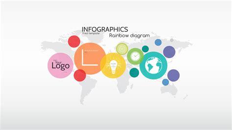 prezi design templates infographics rainbow diagram prezi template