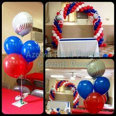 sports themed balloon decor sports theme balloon decorations san diego balloons
