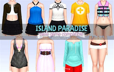 In Paradise Wardrobe by Sims 3 Island Paradise Clothing Base Compatible