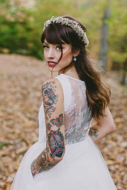 brides with tattoos best 25 tattooed brides ideas on
