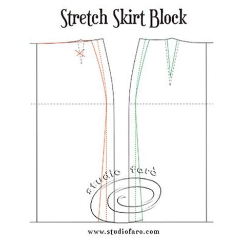 pattern drafting stretch fabric stretch skirt block and design options