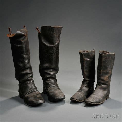 civil war boats two pairs of civil war era boots sale number 2724m lot