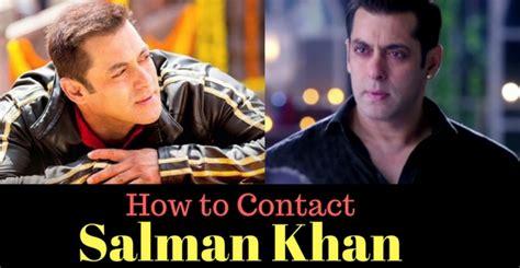 salman khan mobile number salman khan mumbai contact address phone number email