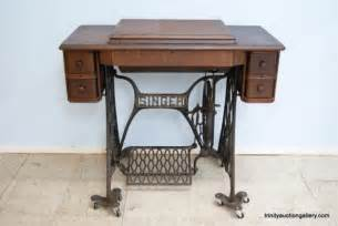 antique treadle singer sewing machine cabinet