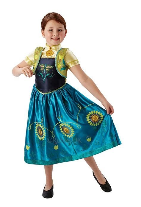 kostum princess anna frozen filles sous licence disney frozen fever anna elsa costume