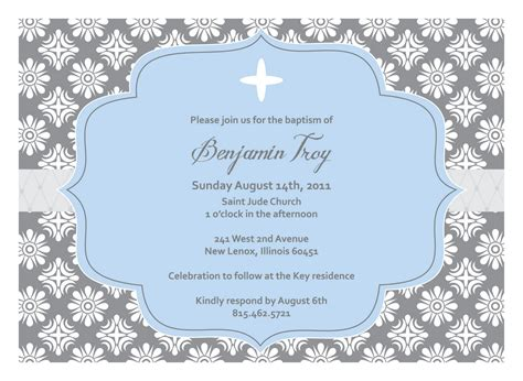 christening invitation blank template baptism