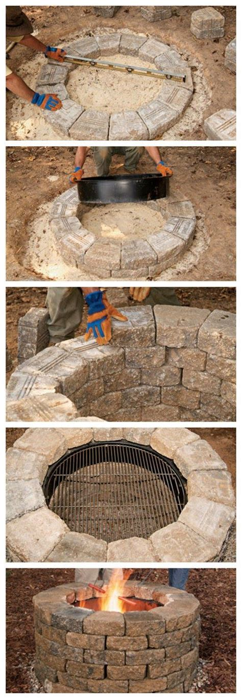 how to make a fire pit in your backyard how to build your own fire pit best diy tricks