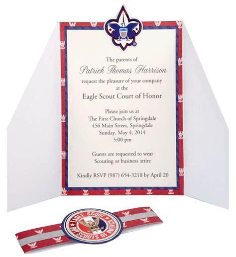 scouts blue   gold invitations  pinterest